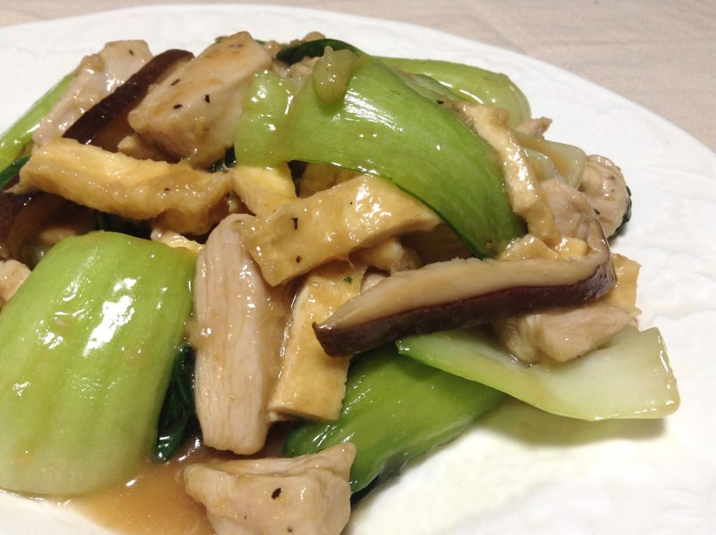 鶏胸肉とチンゲン菜の炒めもの