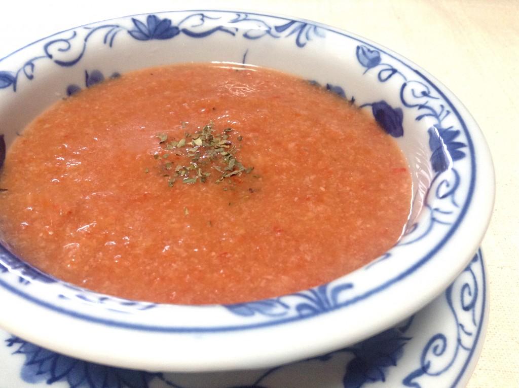 栄養たっぷり冷製スープ★簡単・ガスパチョ★レシピ