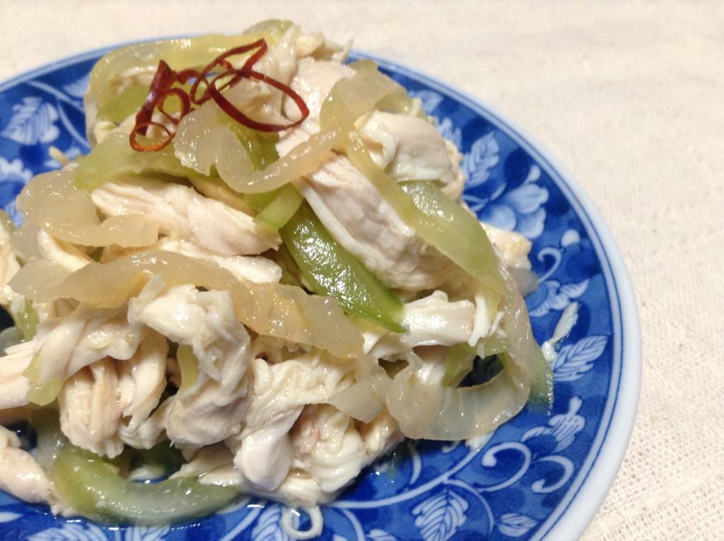 さっぱりモリモリ☆くらげと鶏肉の中華サラダ