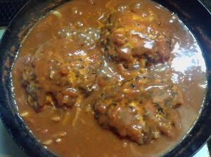 ヘルシーなのにガッツリ☆トマト煮込み・チキンハンバーグ-レシピ3