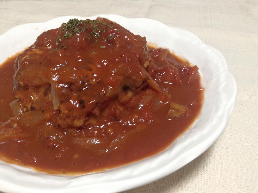 ヘルシーなのにガッツリ☆トマト煮込み・チキンハンバーグ