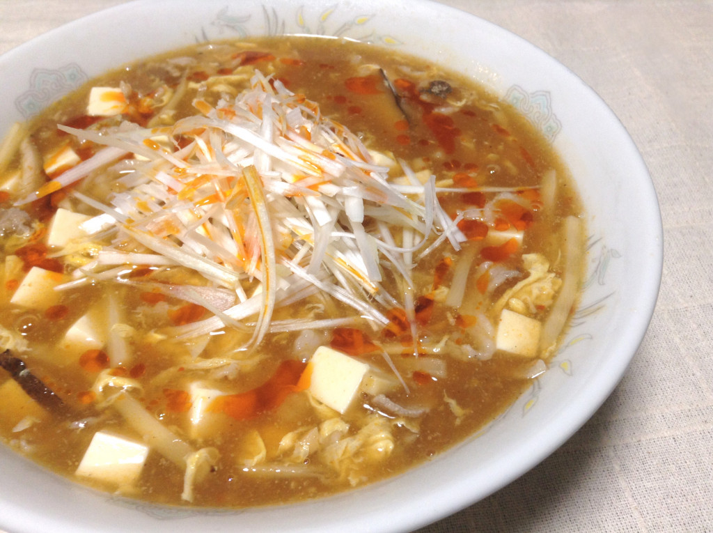 酸味の効いた中華ラーメン★酸辣湯麺(スーラータンメン)★レシピ